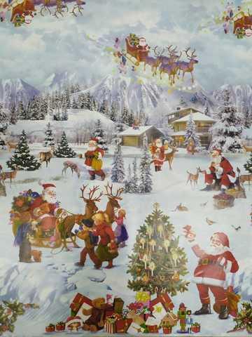 Скатерть клеенчатая- метражная (новогодняя)