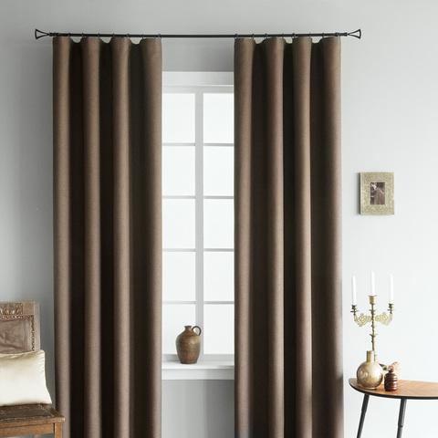 Комплект штор Stes рогожка димаут коричневый