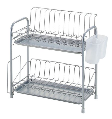Сушилка для посуды Simple ware 2Tier Slim Draining Basket (HW-7302)