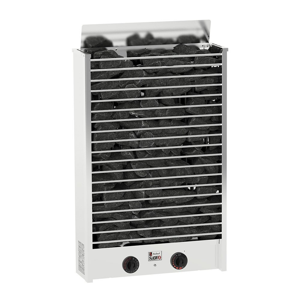 Серия Cirrus: Электрическая печь SAWO CIRRUS ROCK 3 CRR3-90NB-P (9 кВт, встроенный пульт, нержавейка)