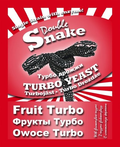 Турбо дрожжи DoubleSnake Fruit Turbo 50 гр.