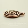 """Подвеска круглая TierraCast """"Кельтский узел"""" (цвет-античная медь) 15х12 мм"""