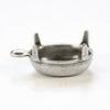 Сеттинг - основа - подвеска для страза 10х8 мм (оксид серебра)