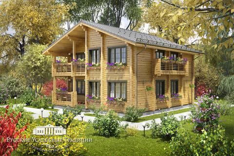 """Проект двухэтажного дома """"Династия"""" 195 кв.м."""