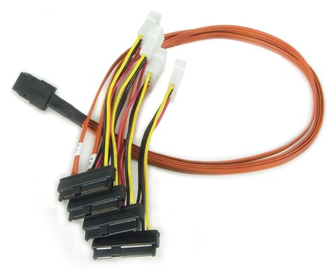 SAS SFF 8087 to 4 хSFF 8482 + Power Cable 1 M