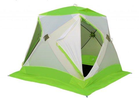 Палатка для зимней рыбалки Лотос Куб Классик А8 (зеленый/оранжевый)
