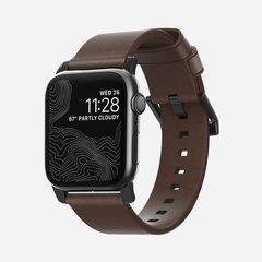 Ремешок Nomad Modern Strap для Apple Watch 40mm/38mm кожа темно-коричневый, застежка черный