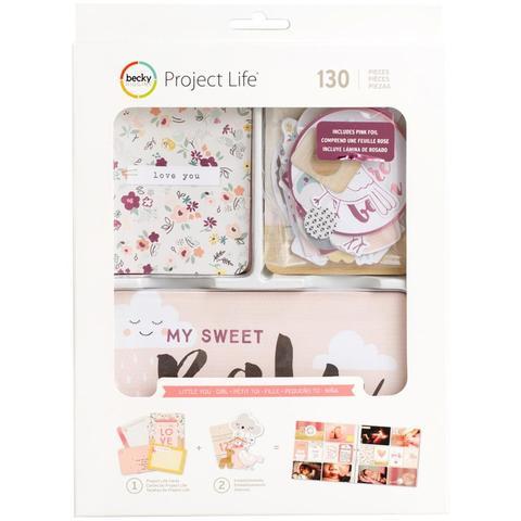 Kit набор карточек и украшений для Project Life- Little You Girls - 130шт