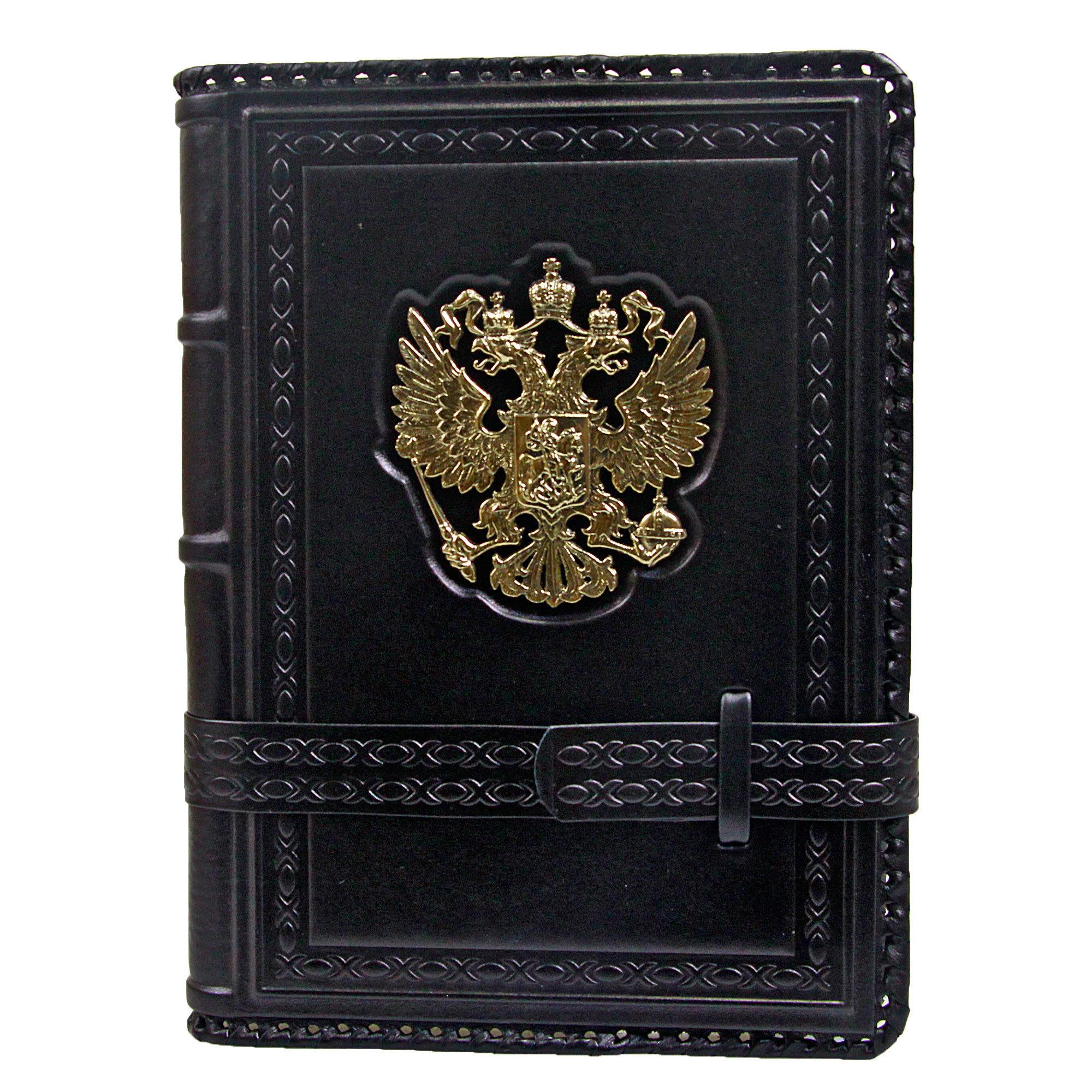 Ежедневник кожаный А5 «Россия Златоглавая» чёрный А80501