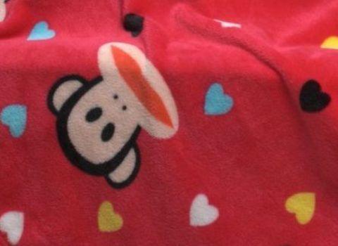 Детский плед с рукавами Sleepy малиновый