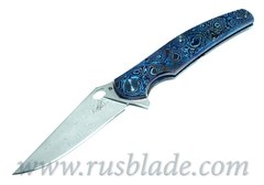 Cheburkov Custom Raven Damascus Timascus