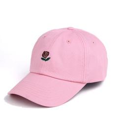 Кепка с розой розовая (Бейсболка с розой розовая)