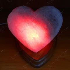 Солевая лампа Сердце алое