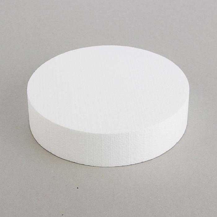 Основа флористическая - диск из пенопласта 20*5 см.
