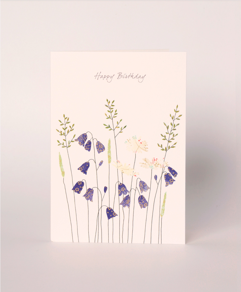 Открытка Harebells & Daisies Birthday