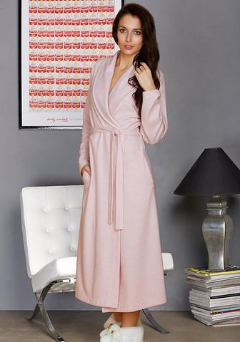 Красивый длинный халат 'в елочку'