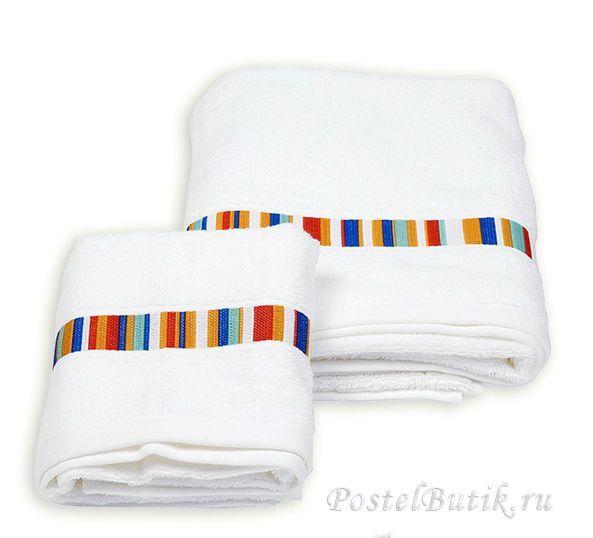 Набор полотенец 2 шт Caleffi Yupi белый