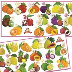 Развивающий набор наклеек:  Любимые фрукты