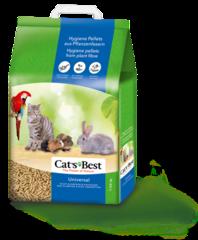Древесный наполнитель для кошачьего туалета Cat's Best Universal, впитывающий