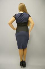 Мадлен. Платья больших размеров. Синий.