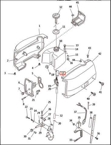 Хомут для лодочного мотора T2,5 SEA-PRO (1-17)