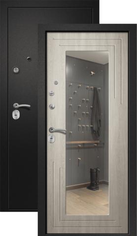 Дверь входная Ретвизан Аризона-222, 2 замка, 1,4 мм  металл, (сатин чёрный+филадельфия крем)