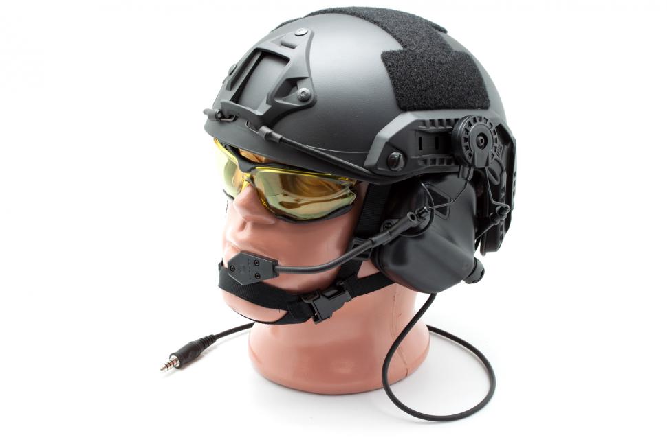 Наушники активные стрелковые Earmor Millitary Edition ME6 с микрофоном под шлем-каску 22-82 Дб