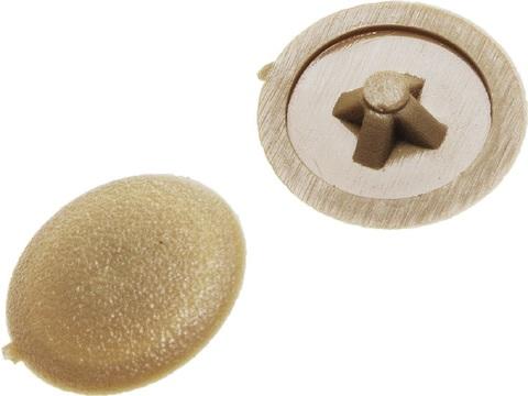 Заглушка декоративная под шуруп, цвет сосна, шлиц №2, 40шт, ЗУБР