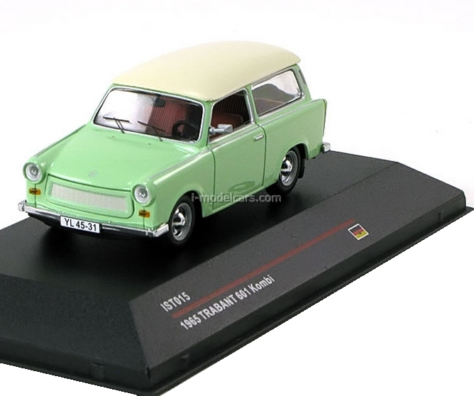 model cars trabant 601 kombi pastel green white 1965. Black Bedroom Furniture Sets. Home Design Ideas