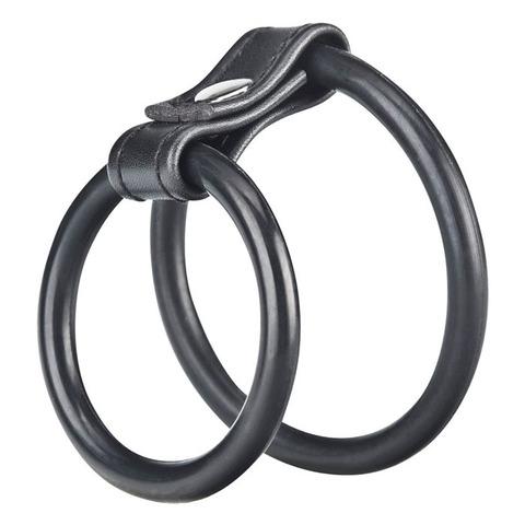 Силиконовые эрекционные кольца на пенис и мошонку BlueLine (4 и 5 см.)