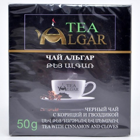 Чай черный с корицей и гвоздикой Альгар, 50г