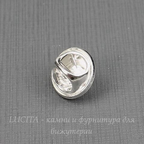 Основа для броши - значка 12х8 мм (цвет - серебро)(из 2х частей)