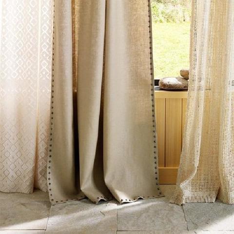 Комплект штор лен LOFT с подхватами