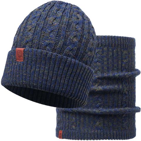 Комплект шарф-шапка вязаный Buff Braidy Moss