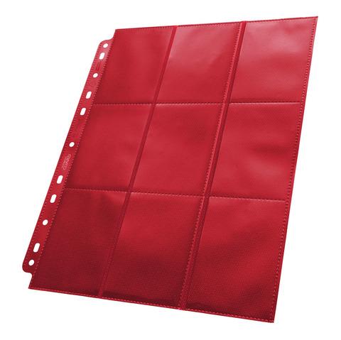 Ultimate Guard - Красный двухсторонний лист для альбома на кольцах 3х3