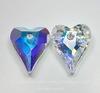6240 Подвеска Сваровски Сердечко Wild Heart Crystal AB (17 мм)