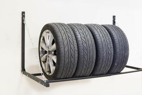 Раздвижная настенная полка для колес
