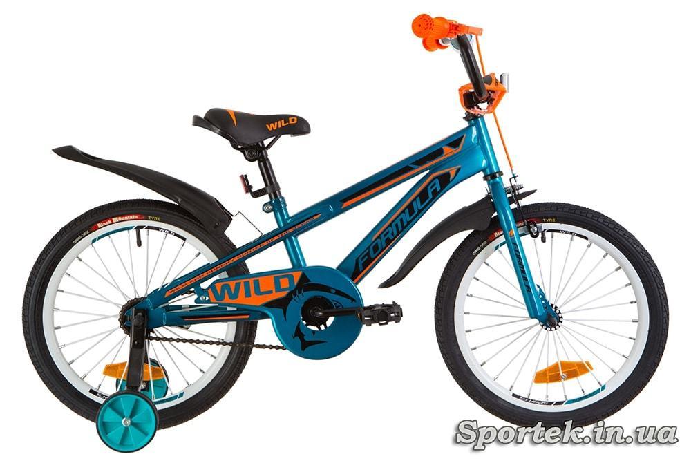 Детский велосипед Formula Wild - бирюзово-оранжевый