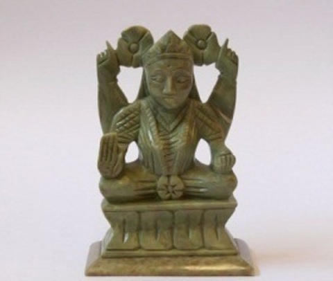 Божество Лакшми (камень L=8 см, H=13см)