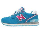 Кроссовки Женские New Balance 574 Suede Blue Pink