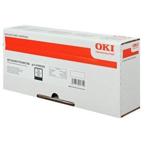 Тонер-картридж OKI для MC770, MC780, MC712 Black. Ресурс 15000 стр. (45396204)