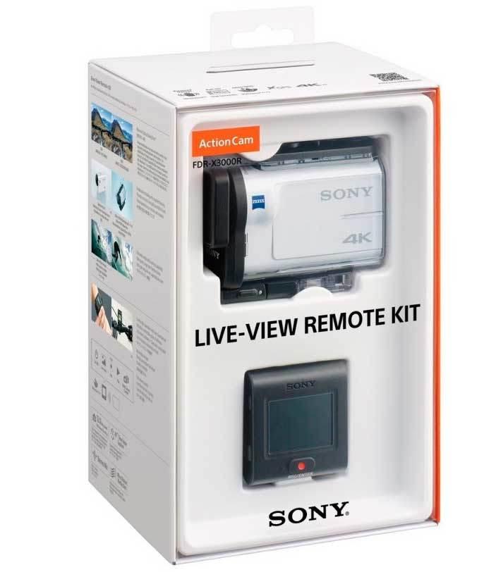 FDR-X3000R 4K экшн камера Sony Action Cam в комплекте с ПДУ