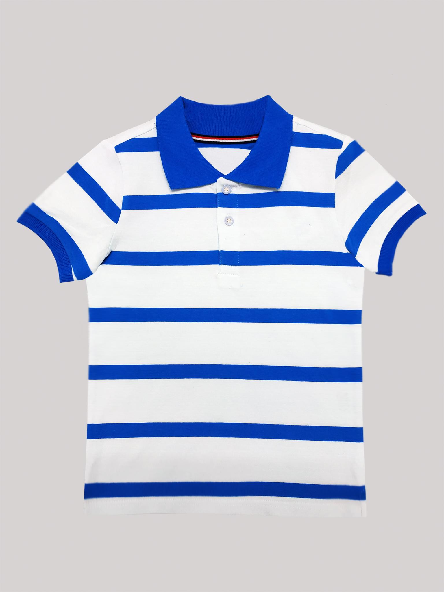 Футболка-поло (белый, небесно-голубой)