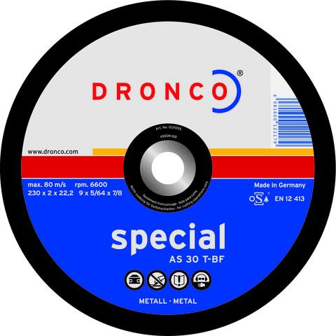 Абразивный отрезной диск Dronco AS 30 T-BF 180х2