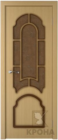Дверь Крона Соната, стекло дельта-бронза, цвет дуб, остекленная