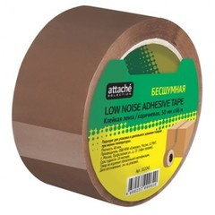 Клейкая лента упак бесшумная Attache Selection 50мм х 66м 48мкм коричневая