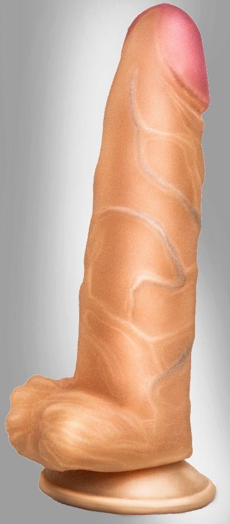 Реалистичные: Фаллоимитатор COCK NEXT 6 с подошвой-присоской - 17 см.