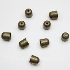 Концевик для шнура 6,5 мм, 8х7 мм (цвет - античная бронза), 10 штук