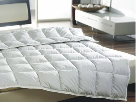 Одеяло пуховое легкое 180х200 Kauffmann Пух Гаги в хлопке