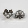 Винтажный декоративный элемент - шапочка с веточками 9х4 мм (оксид серебра)